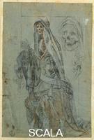 Cigoli, Ludovico (1559-1613) Scheletro ammantato 8992 F
