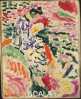 Matisse, Henri (1869-1954) Woman Beside the Water (La Japonaise, M.me Matisse). Collioure, 1905