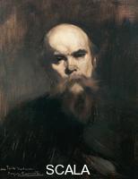 ******** Portrait of Paul Verlaine (Metz, 1844-Paris, 1896), French poet. Painting by Eugene Carriere (1849-1906), 1890, oil on canvas, 51x61 cm.
