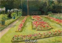 Liebermann, Max (1847-1935) Liebermann, Max (1847-1935). The Flower Terrace in the Wannsee Garden. 1921