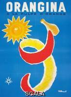 ******** Villemot, Bernard (1911-1989). An advertising poster for 'Orangina'. 1965