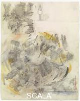 Rauschenberg, Robert (1925-2008) Canto V: secondo girone, i lascivi, dalla serie 'Trentaquattro illustrazioni per l'Inferno di Dante', 1958