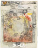 Rauschenberg, Robert (1925-2008) Canto VIII: quinto girone, lo Stige, gli iracondi; sesto girone, Dite, capitale dell'Inferno, gli angeli caduti, dalla serie 'Trentaquattro illustrazioni per l'Inferno di Dante', 1959-60
