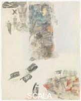 Rauschenberg, Robert (1925-2008) Canto XII: settimo girone, prima cerchia, i violenti contro il prossimo, dalla serie 'Trentaquattro illustrazioni per l'Inferno di Dante', 1959-60