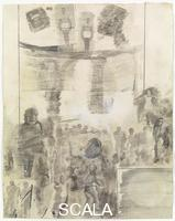 Rauschenberg, Robert (1925-2008) Canto XX: ottavo girone, quarta bolgia, gli indovini e i divinatori, dalla serie 'Trentaquattro illustrazioni per l'Inferno di Dante', 1959-60
