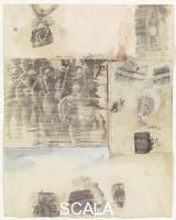 Rauschenberg, Robert (1925-2008) Canto XXI: ottavo girone, quinta bolgia, i corrotti, dalla serie 'Trentaquattro illustrazioni per l'Inferno di Dante', 1959-60