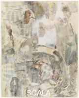 Rauschenberg, Robert (1925-2008) Canto XXVIII: ottavo girone, nona bolgia, i seminatori di zizzania: i semonatori di discordie religiose e politiche tra parenti, dalla serie 'Trentaquattro illustrazioni per l'Inferno di Dante', 1959-60