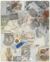 Rauschenberg, Robert (1925-2008) Canto XXX: ottavo girone, decima bolgia, i falsari: la personificazione del male, contraffatori e falsi testimoni, dalla serie 'Trentaquattro illustrazioni per l'Inferno di Dante', 1959-60