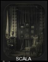 Gros, Jean Baptiste Louis (1793-1870) [Il salotto del Barone Gros], 1850-57