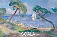 Camoin, Charles (1879-1965) La Baie des Canoubiers au voilier blanc, 1941