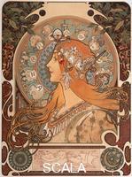 Mucha, Alphonse (1860-1939) Zodiaque, 1896