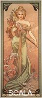 Mucha, Alphonse (1860-1939) La saison : le printemps, 1900