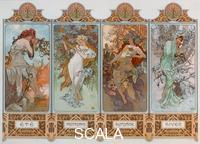 Mucha, Alphonse (1860-1939) Les saisons : variante 3