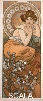 Mucha, Alphonse (1860-1939) Les pierres precieuses : la Topaze, 1900