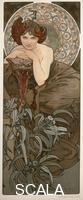 Mucha, Alphonse (1860-1939) Les pierres precieuses : l'Emeraude