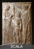 ******** Mission of Triptolemus. Bas-relief from Eleusis, 440-430 B.C.E