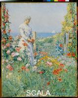 Hassam, Childe (1859-1935) In the Garden (Celia Thaxter in Her Garden), 1892.
