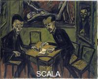 Heckel, Erich (1883-1970) Two Painters at the Table. 1912.