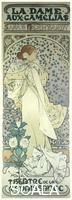 Mucha, Alphonse (1860-1939) La Dame aux Camelias. Poster for the actress Sarah Bernhardt in the title role of this play by Alexandre Dumas. 1896.