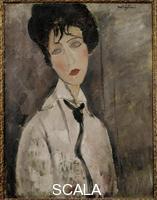 Modigliani, Amedeo (1884-1920) Femme a la cravatte noire (Woman with Black Tie), 1917
