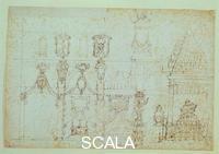 Cigoli, Ludovico (1559-1613) Schizzi per le esequie di Filippo II di Spagna 2654 A sez. orn. recto