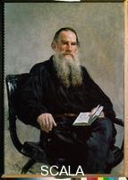Repin, Ilya (1844-1930) Portrait of Leo Tolstoy
