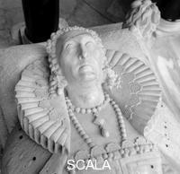 ******** Tomb of Queen Elizabeth I, Westminster Abbey, London, 1945-1980. The white marble monument was made Maximilian Colt; her crown and collar were stolen and those shown here are modern replacements
