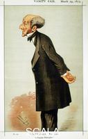 Spy (Ward, Sir Leslie called 1851-1922) John Stuart Mill, British social reformer and philosopher (cartoon from 'Vanity Fair', London, 1873)