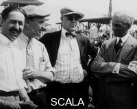 ******** Jules Goux, Barney Oldfield and Henry Ford, Indianapolis, 1921.