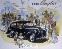******** Poster advertising the Ford Anglia car.