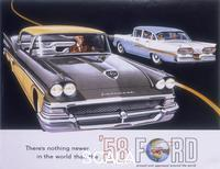 ******** Poster advertising the Ford Fairlane car, 1958.