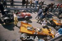 ******** Denny Hulme's McLaren Ford at the British Grand Prix, Silverstone, Northamptonshire, 1969.