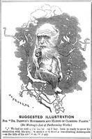 Sambourne, Edward Linley (1844-1910) Charles Darwin, English naturalist, 1875.