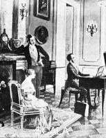 ******** Felix Mendelssohn (1809-1847), performing for Queen Victoria and Prince Albert at Buckingham Palace.