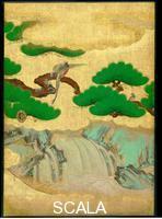 Japanese art Omoteshoin fusuma-e. Sliding door (part of a whole)