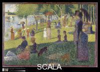 Seurat, Georges (1859-1891) Study for 'A Sunday on La Grande Jatte', 1884-85