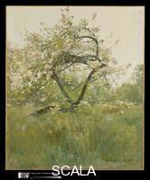 Hassam, Childe (1859-1935) Peach Blossoms. Villiers-le-Bel, c. 1887-89
