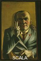 Beckmann, Max (1884-1950) Self-Portrait with a Cigarette, 1923