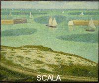 Seurat, Georges (1859-1891) Port-en-Bessin, Entrance to the Harbor, 1888