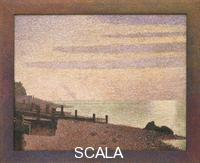 Seurat, Georges (1859-1891) Evening, Honfleur, 1886