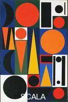 Herbin, Auguste (1882-1960) Composition on the Word 'Vie,' 2. 1950.