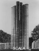 Mies van der Rohe, Ludwig (1886-1969) Glass Skyscraper. Berlin, 1922. Model (no longer extant).