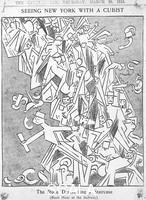 ******** Seeing New York With a Cubist: 'The Rude Descending a Staircase' (Rush Hour at the Subway), The New York Evening Sun, March 20, 1913. Parody of Marcel Duchamp's painting 'Nude descendant un escalier' (1912)