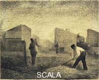 Seurat, Georges (1859-1891) Stone Breakers. Le Raincy, c. 1881