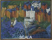 Dufy, Raoul (1877-1953) Sailboat at St. Adresse, 1912