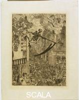 Ensor, James (1860-1949) Death Chasing the Flock of Mortals, 1896