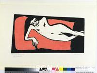 Heckel, Erich (1883-1970) Fraenzi Reclining, 1910