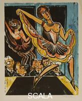 Pechstein, Max (1881-1955) Dancer reflected in a Mirror, 1923