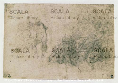 Michelangelo (Buonarroti, Michelangelo 1475-1564) Disegno per il Giudizio Universale n. 170 S