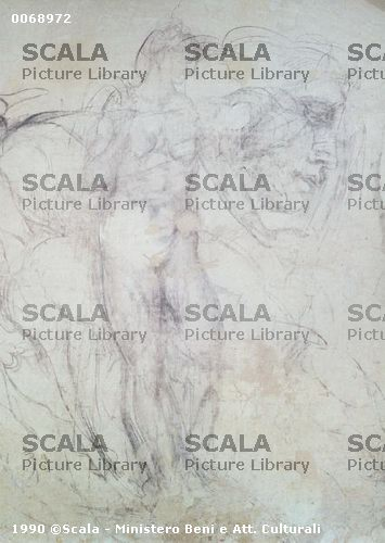 Michelangelo (Buonarroti, Michelangelo 1475-1564) Studio di figure allegoriche per le tombe dei Medici - particolare
